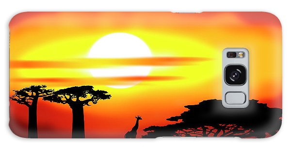 Africa Sunset Galaxy Case by Michal Boubin