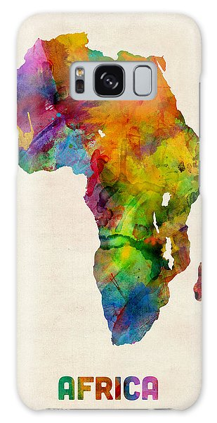 Nigeria Galaxy Case - Africa Watercolor Map by Michael Tompsett