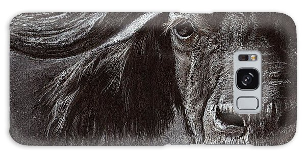African Buffalo Galaxy Case by Heidi Kriel