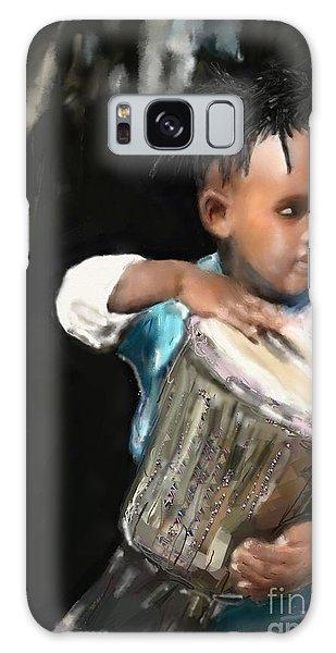 African Drummer Boy Galaxy Case by Vannetta Ferguson