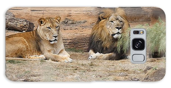 African Lion Couple 2 Galaxy Case