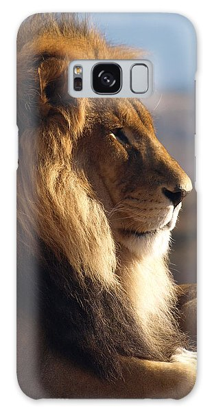 African Lion Galaxy Case by James Peterson