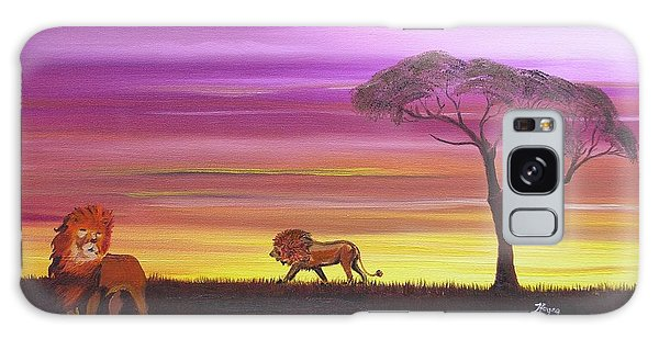 African Lions Galaxy Case