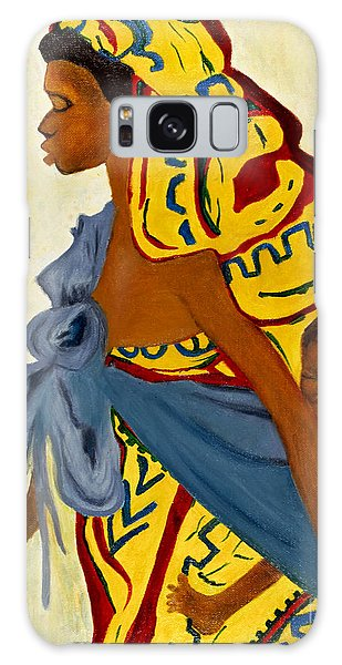African Mother And Child Galaxy Case