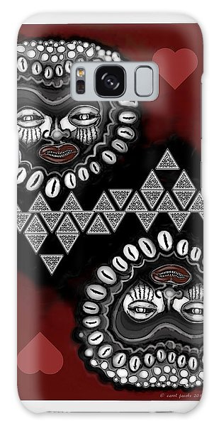 African Queen-of-hearts Card Galaxy Case by Carol Jacobs