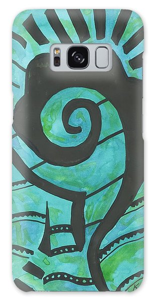 African Question Mark Galaxy Case