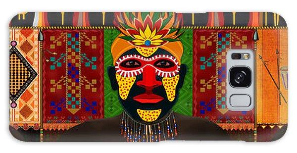 African Tribesmen Galaxy Case