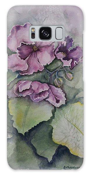 African Violets Galaxy Case by Rebecca Matthews