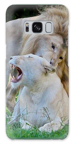 African White Lions Galaxy Case