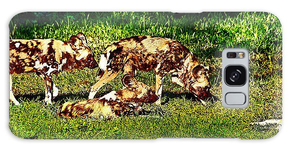 African Wild Dog Family Galaxy Case