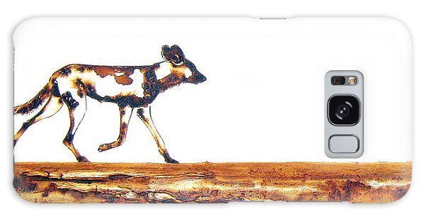 Endangered African Wild Dog - Original Artwork Galaxy Case