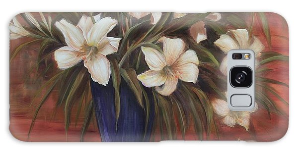 After Noon Lilies Galaxy Case