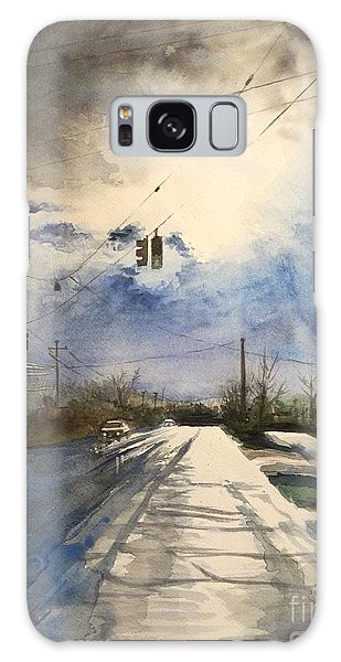 After Rain -on The Michigan Ave. Saline Michigan Galaxy Case by Yoshiko Mishina