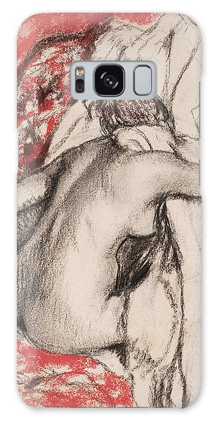 Impressionistic Galaxy Case - After The Bath.seated Woman Drying Herself by Edgar Degas
