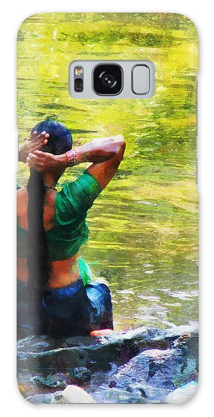 After The River Bathing. Indian Woman. Impressionism Galaxy Case