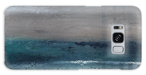 Interior Galaxy Case - After The Storm- Abstract Beach Landscape by Linda Woods