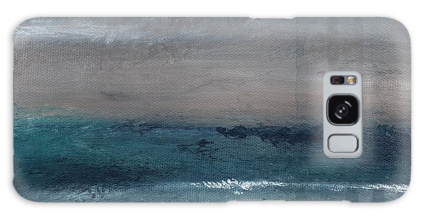 Woods Galaxy Case - After The Storm- Abstract Beach Landscape by Linda Woods
