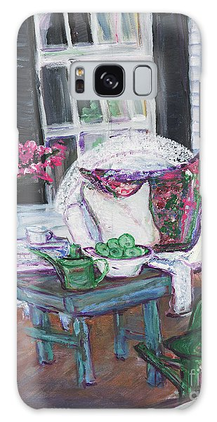 Afternoon At Emmaline's Front Porch Galaxy Case