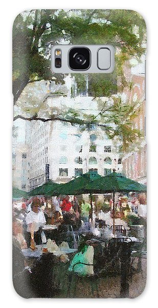 Afternoon At Faneuil Hall Galaxy Case