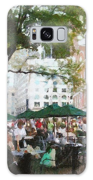 Outdoor Dining Galaxy Case - Afternoon At Faneuil Hall by Jeffrey Kolker