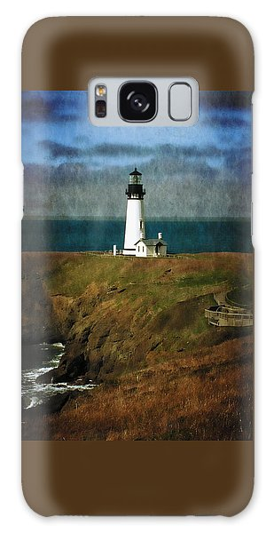 Afternoon At The Yaquina Head Lighthouse Galaxy Case