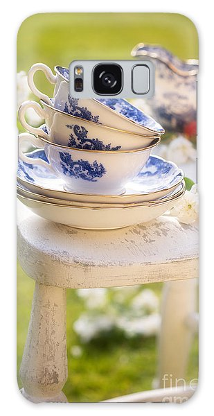 Picnic Table Galaxy Case - Afternoon Tea by Amanda Elwell