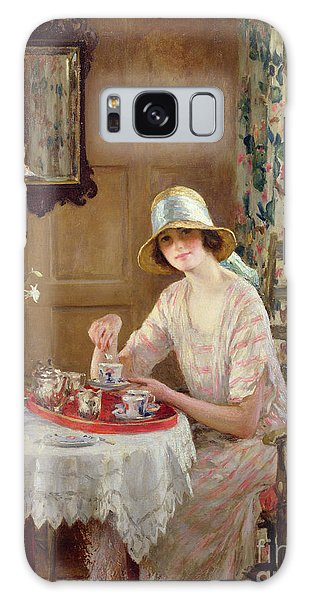 Portraiture Galaxy Case - Afternoon Tea by William Henry Margetson