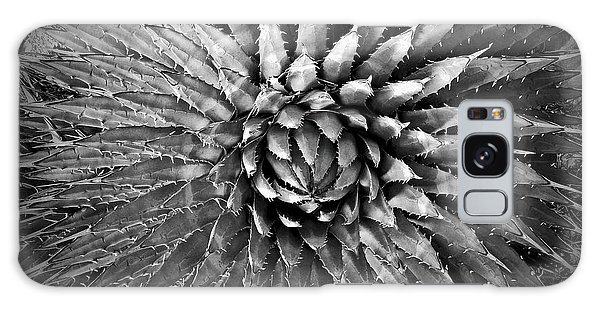Agave Spikes Black And White Galaxy Case by Alan Socolik
