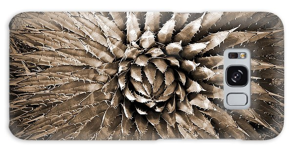 Agave Spikes Sepia Galaxy Case