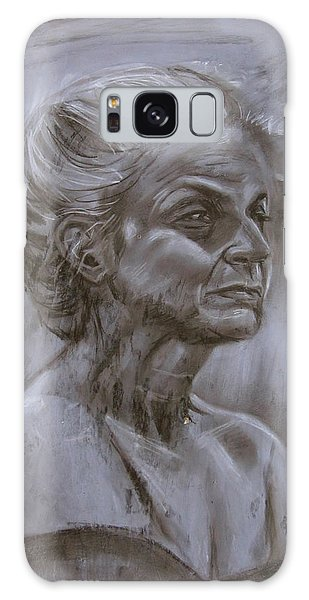 Aged Woman Galaxy Case