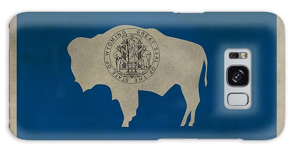 Aged Wyoming State Flag Galaxy Case