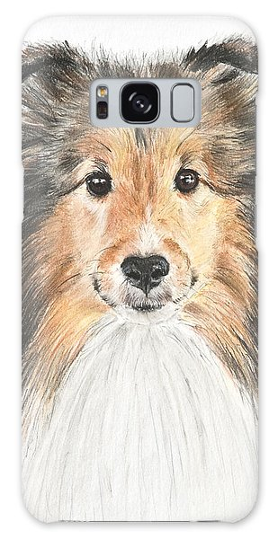 Agility Dog Sheltie In Pastel Galaxy Case by Kate Sumners