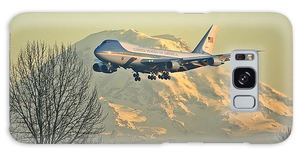 Air Force One And Mt Rainier Galaxy Case