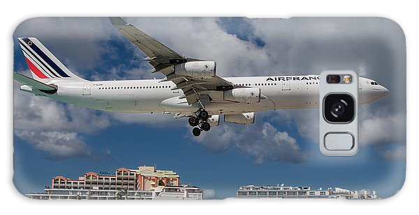 Air France Landing At St. Maarten Galaxy Case by David Gleeson