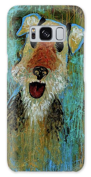 Airedale Terrier Galaxy Case by Genevieve Esson