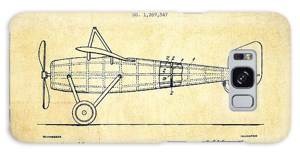 Airplane Galaxy Case - Airplane Patent Drawing From 1918 - Vintage by Aged Pixel