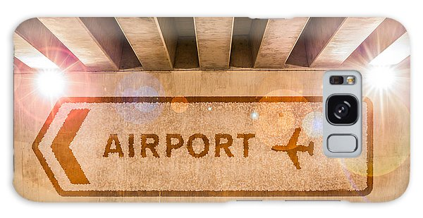 Airport Directions Galaxy Case by Semmick Photo