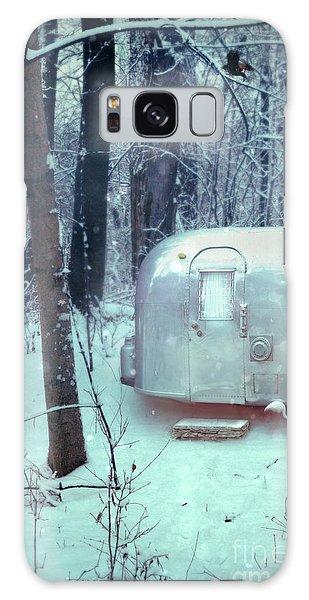 Airstream Trailer In Snowy Woods Galaxy Case by Jill Battaglia