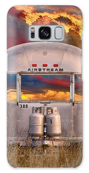 Airstream Travel Trailer Camping Sunset Window View Galaxy Case