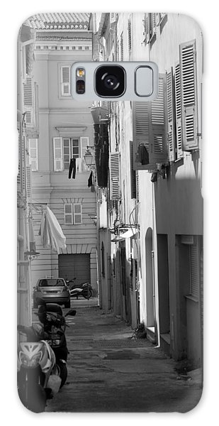 Galaxy Case featuring the photograph Ajaccio Back Alley by Brad Brizek