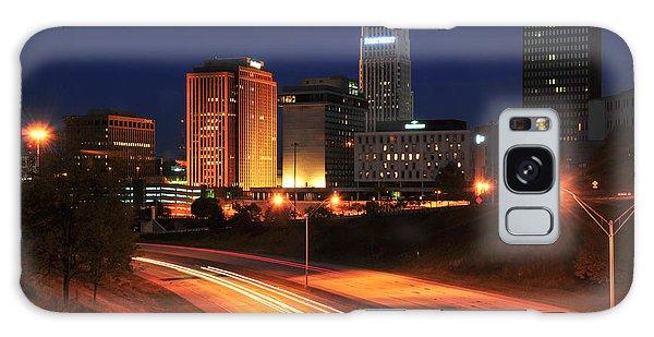 D1u-140 Akron Ohio Night Skyline Photo Galaxy Case
