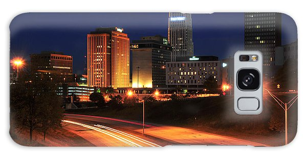 D1u-140 Akron Ohio Night Skyline Photo Galaxy Case