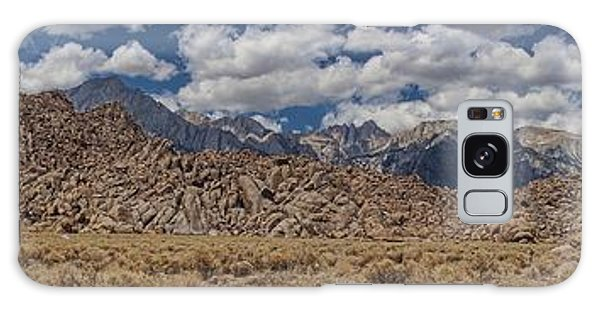 Alabama Hills And Eastern Sierra Nevada Mountains Galaxy Case by Peggy Hughes