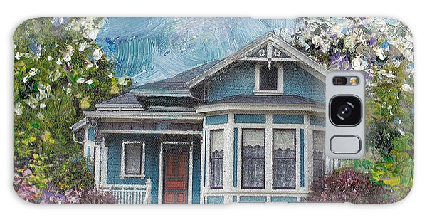 Alameda 1884 - Eastlake Cottage Galaxy Case by Linda Weinstock