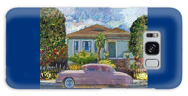Alameda 1908 House 1950 Pink Dodge Galaxy Case by Linda Weinstock