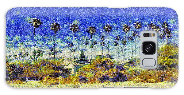 Alameda Famous Burbank Palm Trees Galaxy Case by Linda Weinstock