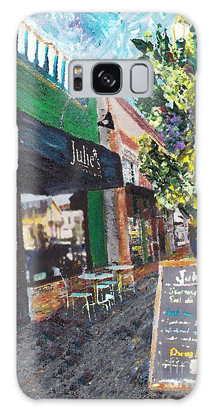Alameda Julie's Coffee N Tea Garden Galaxy Case by Linda Weinstock