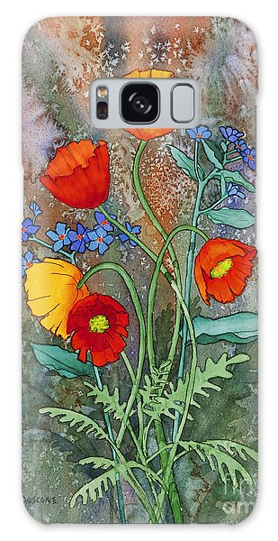 Alaska Poppies And Forgetmenots Galaxy Case