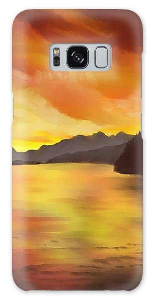 Alaska Sunset Galaxy Case by Terry Frederick