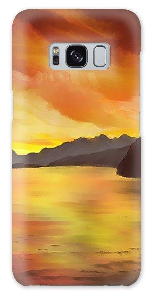 Alaska Sunset Galaxy Case